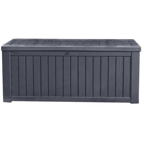 Keter Garden Storage Box Rockwood 570L Anthracite - Grey