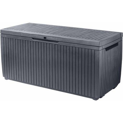 Keter Garden Storage Box Springwood 305L Anthracite - Grey