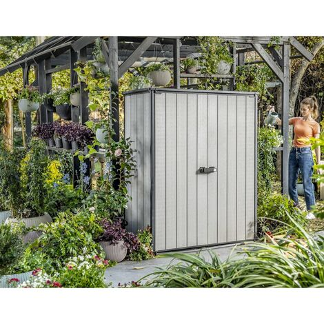 Keter Garden Storage Cabinet High-Store Plus Grey - Grey