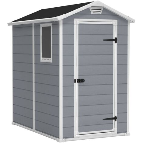 Keter Garden Storage Shed Manor 6x5 DD Grey 204496