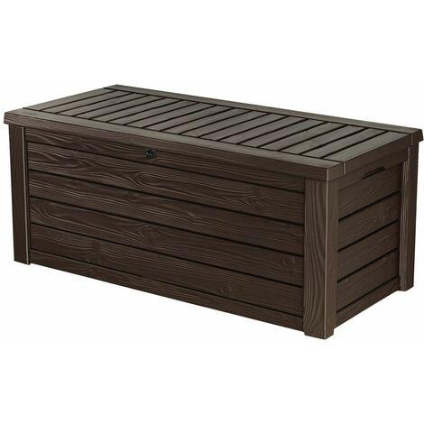 Keter Gartenbox Kissenbox Westwood Box 570 Liter Auflagenbox espresso braun