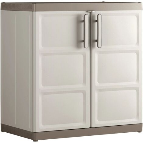 Keter Low Storage Cabinet Excellence XL Black and Grey 93 cm