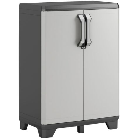 Keter Low Storage Cabinet Gear Black and Grey 182 cm