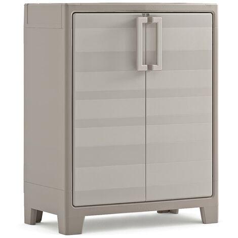 Keter Low Storage Cabinet Gulliver Beige and Brown 100 cm - Beige