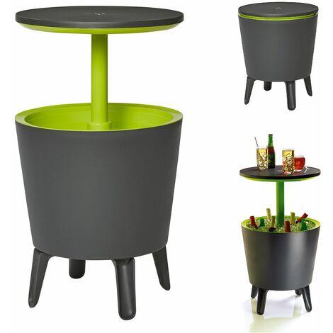 """Keter Mesa auxiliar """"Cool Bar"""" 30L con compartimento refrigerado mesa alta con enfríador nevera portail jardin exterior"""