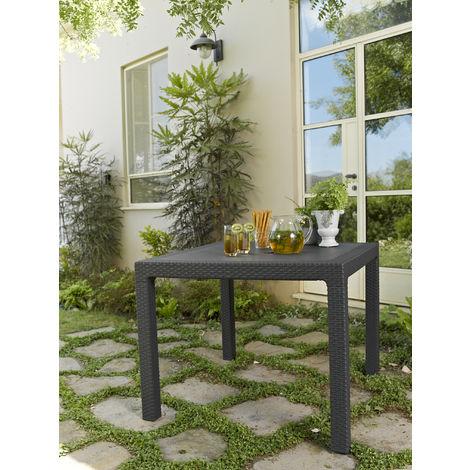 mesa de jardín ratán