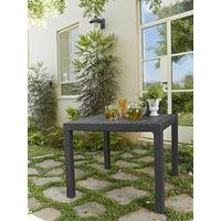 Keter - Mesa de jardín Quarted. Color grafito