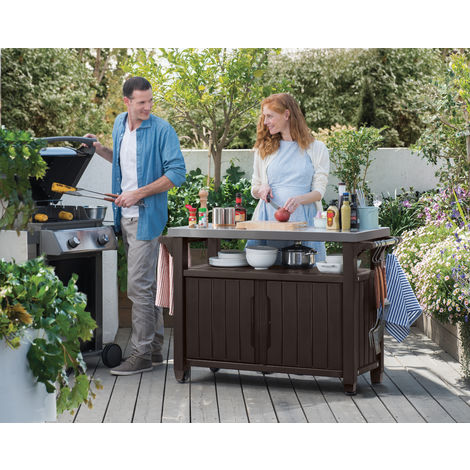 mesas auxiliares de jardín