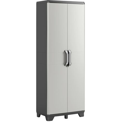 Keter Multipurpose Storage Cabinet Gear Black and Grey 182 cm