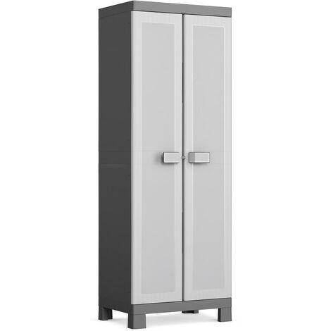 Keter Multipurpose Storage Cabinet Logico Black and Grey 182 cm - Black