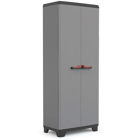 Keter Multipurpose Storage Cabinet Stilo Grey and Black 173 cm - Black
