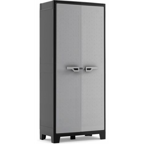 Keter Multipurpose Storage Cabinet Titan Black and Grey 182 cm - Black