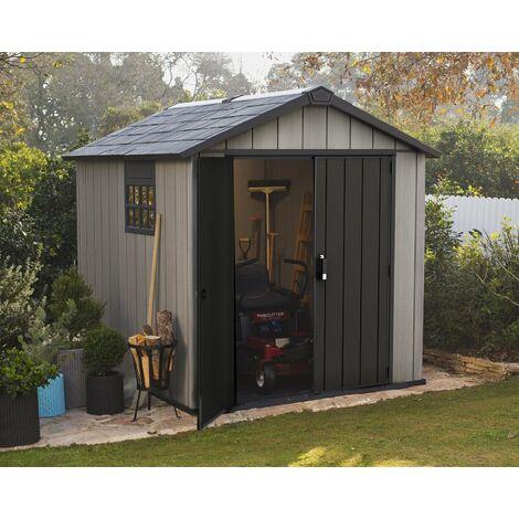 Keter Oakland 759 Composite Garden 7ft x 9ft Shed Outdoor Storage Grey Resin