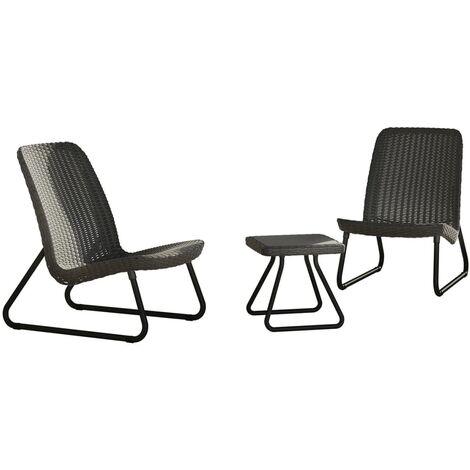 Keter Patio Furniture Set 3 Pieces Rio Graphite 224014