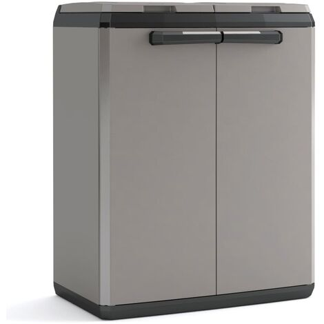 """main image of """"Keter Recycling Cabinet """"Split Basic"""" Grey and Black 85 cm - Black"""""""