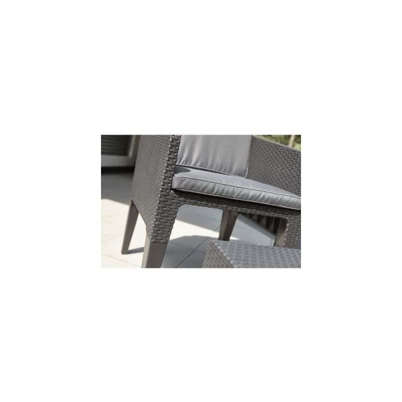 Gris KETER Salon de jardin COLUMBIA 2 places Imitation rotin tresse