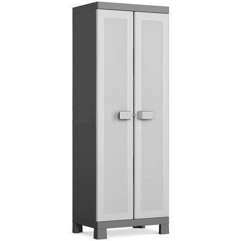 Keter Storage Cabinet with Shelves Logico Black and Grey 182 cm - Black