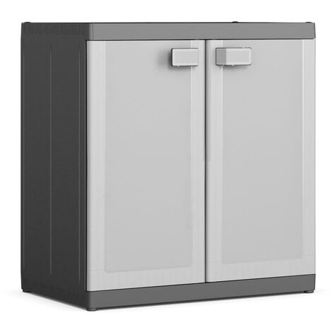 Keter Storage Cabinet with Shelves Logico XL Black and Grey 182 cm - Black