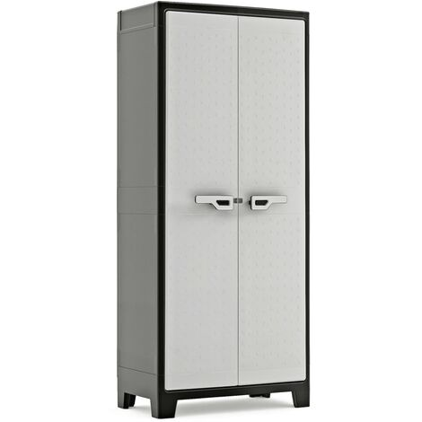Keter Storage Cabinet with Shelves Titan Black and Grey 182 cm - Black