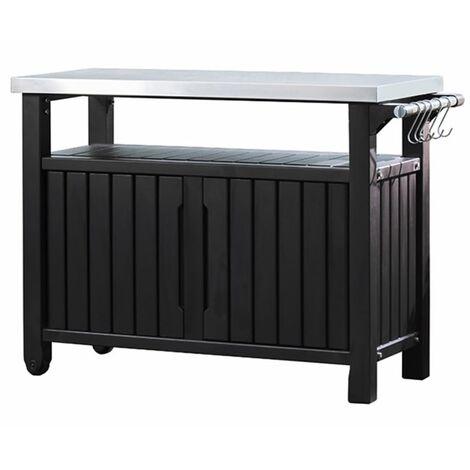 Keter Table d'extérieur multifonctionnelle de barbecue Unity XL 228934