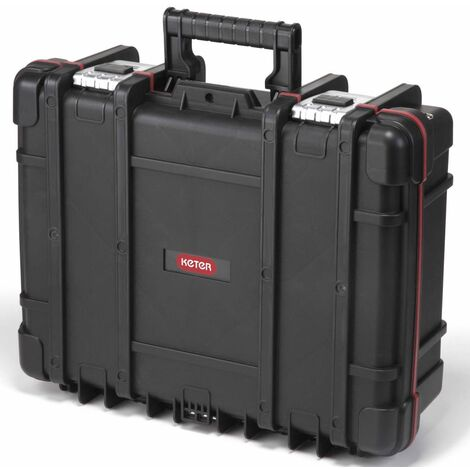 Keter Technician Box with Removable Organiser Black - Black