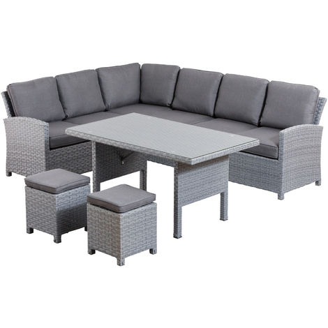 Kettler Faromarbella Casual Dining Lounge Anthrazit Grau