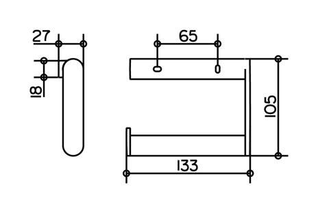 Keuco 14962170000 Plan Porte-papier toilette sans couvercle,Argent anodis/é