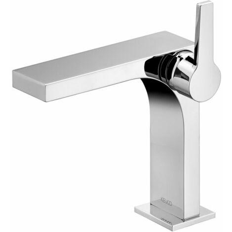 Keuco Edition 11 Mezclador monomando de lavabo 150, 51102, sin desagüe., color: Negro cromo cepillado - 51102130100