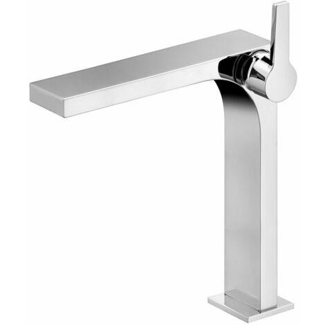 Keuco Edition 11 Mitigeur monocommande de lavabo 250, 51102, sans garniture d'écoulement, Coloris: nickel brossé - 51102050103