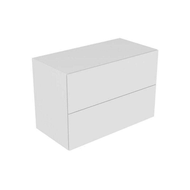 Sideboard Edition 11 31325, Bel., 2 Front -auszüge, weiß/Glas weiß, 31325300100 - Keuco