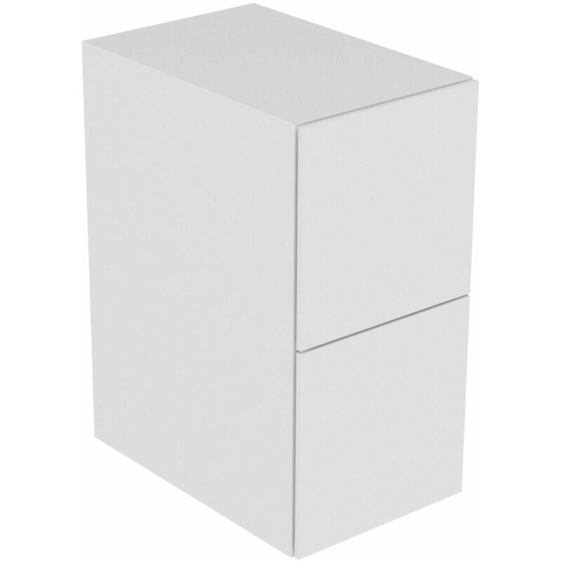 Keuco Edition 11 Sideboard 31321, 2 Frontauszüge, 350 x 700 x 535 mm, Korpus/Front: Schwarz Lack Seidenmatt / Schwarz Glas - 31321570000