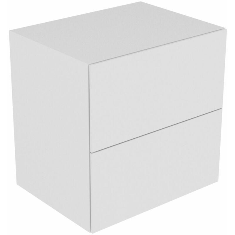 Edition 11 Sideboard 31323, 2 Frontauszüge, 700 x 700 x 535 mm, Korpus/Front: Weiß Lack Hochglanz / Weiß Lack Hochglanz - 31323210000 - Keuco