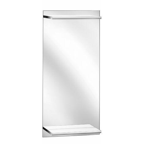 Keuco Edition 11 WC invités miroir rétro-éclairé, avec étagère lumineuse intégrée, 11198, 435 x 900 x 128 mm - 11198001500