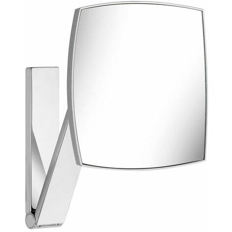Keuco iLook_move Espejo de maquillaje, 17613, sin iluminar, superficie del espejo: 200 x 200 mm, cromado - 17613010000