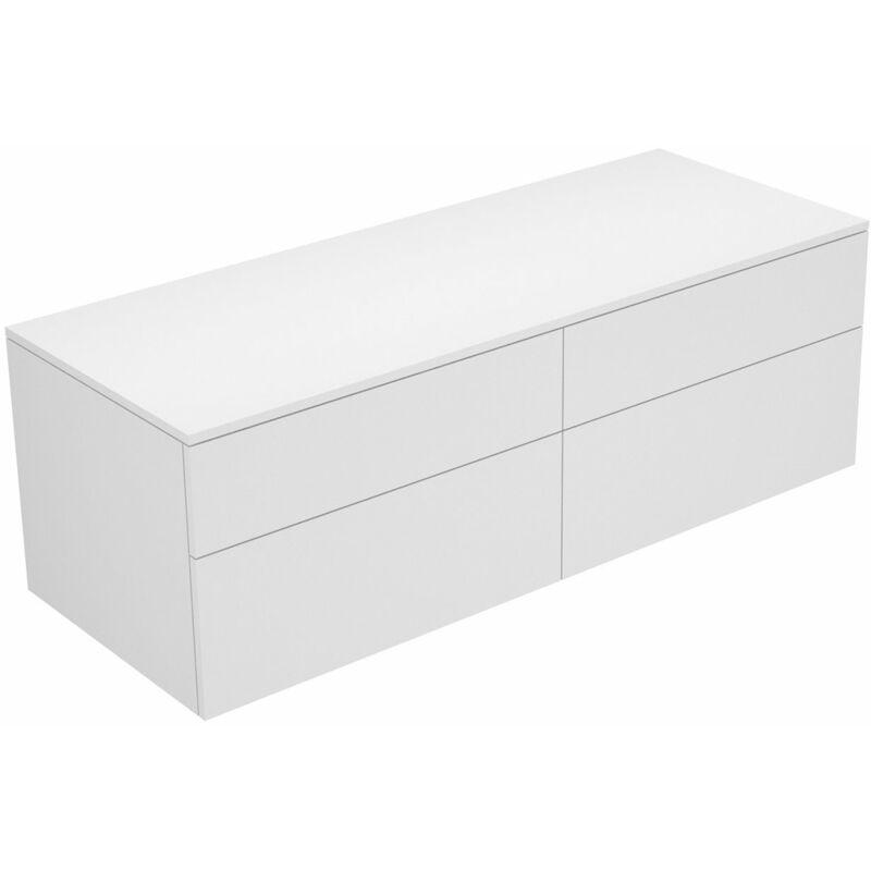 Edition 400 Sideboard 31767, 4 Auszüge, 1400 x 472 x 535 mm, Korpus/Front: Trüffel Strukturlack / Trüffel Strukturlack - 31767370000 - Keuco