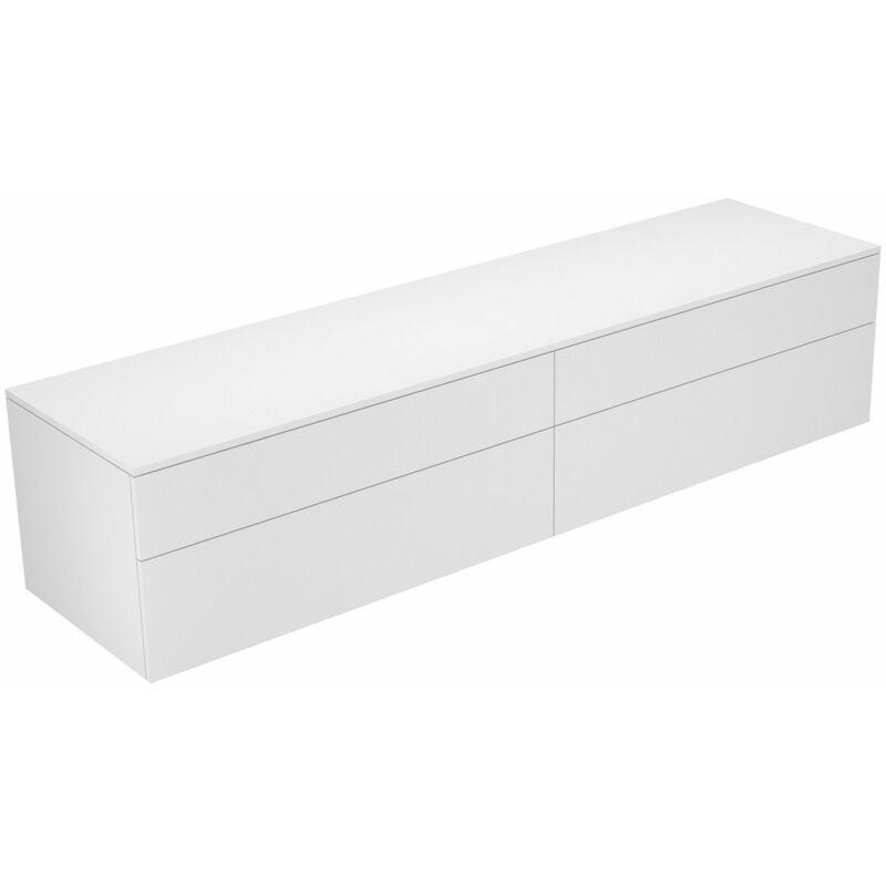 Edition 400 Sideboard 31773, 4 Auszüge, 2100 x 472 x 535 mm, Korpus/Front: Trüffel Strukturlack / Trüffel Strukturlack - 31773370000 - Keuco
