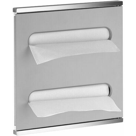 Keuco Plan Module Intégral Lavabo 2 44985, chromé et blanc, charnières à gauche - 44985015101