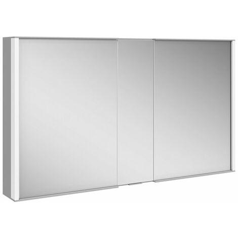 Keuco Royal Match armario con espejo 12801, 2 puertas giratorias con doble espejo, 1200 mm - 12804171301
