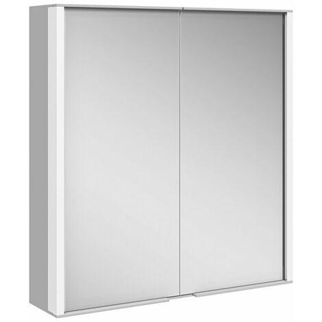 Keuco Royal Match armario con espejo 12801, 2 puertas giratorias con doble espejo, 650mm - 12801171301