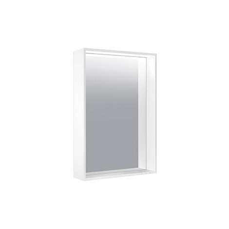 Keuco X-Line illuminated mirror 33296, 1 light colour, 3000 Kelvin, 800 x 700 x 105 mm, colour: truffles - 33296142500