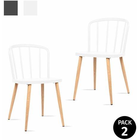 KEWAYES - Pack 2 chaises COLONNA salon 44x53,5x75,5cm