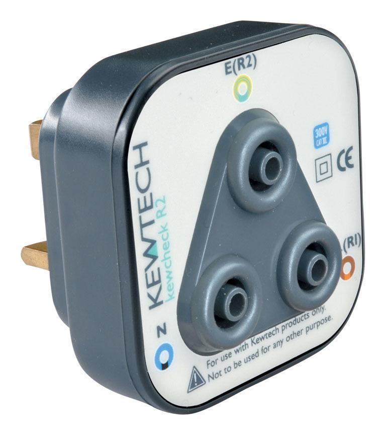 Image of Kewcheck R2 Mains Tester Adaptor 4mm - Kewtech