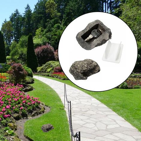 Key Chest Trunk Secret Secret Hide Hidden Funny Muddy Rock Stone Case Box Home Garden Decor Security Gift Hasaki