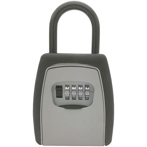 Key code lock storage box Padlock lock box 4-digit combination without screws