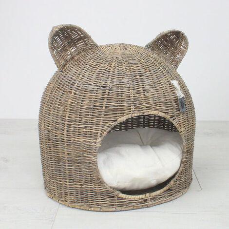 Key Largo Rattan Cat Bed