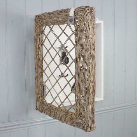 Key Largo Rattan Framed Key Rack