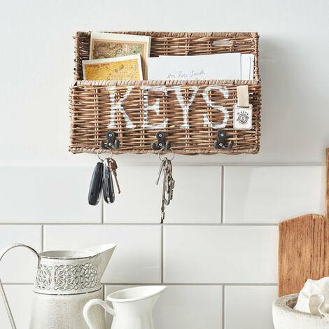 Key Largo Rattan Key Rack & Letter Tray