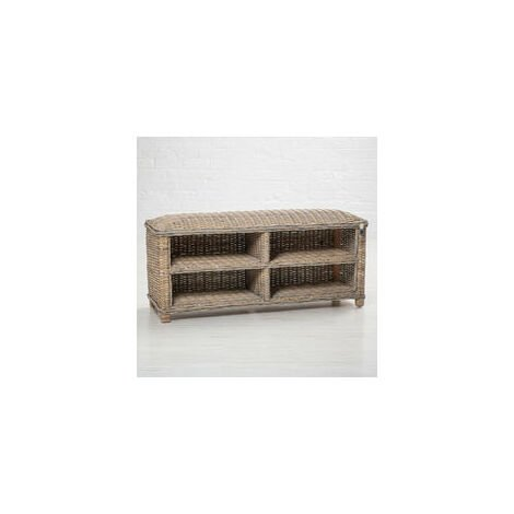 Key Largo Rattan Shoe Storage Bench