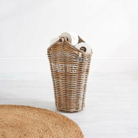 Key Largo Rattan Toilet Roll Holder Stand