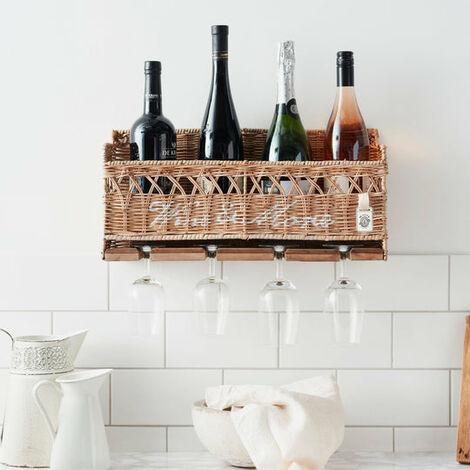 Key Largo Rattan Wine And Stem Rack